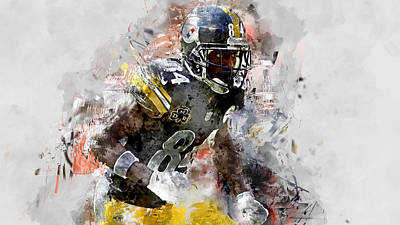 Mixed Media - Antonio Brown by Marvin Blaine