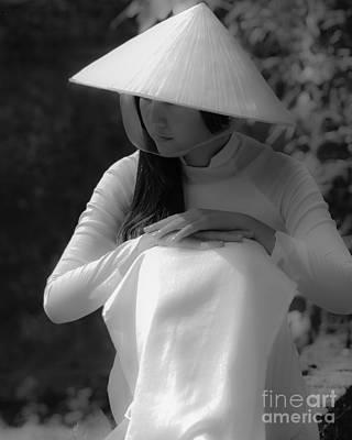 Photograph - Ao Dai Hue by Tran Minh Quan