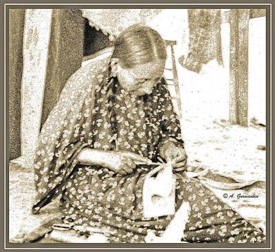 Photograph - Apache Woman, 1904, Engraving by A Gurmankin