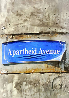 Photograph - Apartheid Avenue by Munir Alawi