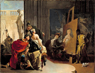 Giovanni Battista Tiepolo Painting - Apelles Painting The Portrait Of Campaspe by Celestial Images