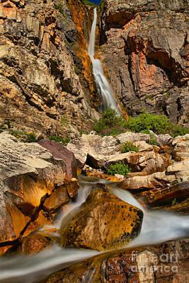 Photograph - Apikuni Falls Boulder by Adam Jewell