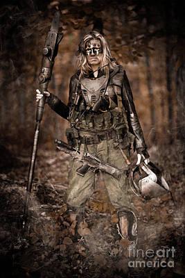 Huntress Photograph - Apocalypse Bounty Hunter by Jt PhotoDesign