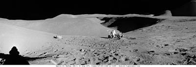 Landmarks Painting Royalty Free Images - Apollo 15 misson, lunar panoramas, nasa Royalty-Free Image by Celestial Images