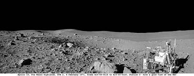 Landmarks Painting Royalty Free Images - Apollo misson, lunar panoramas, nasa 4 Royalty-Free Image by Celestial Images