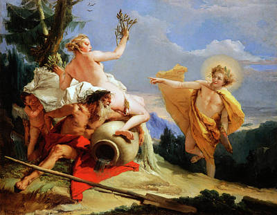 Painting - Apollo Pursuing Daphne by Giovanni Battista Tiepolo