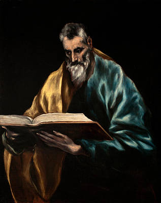 Painting - Apostle Saint Thomas by El Greco