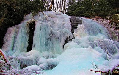 Photograph - Appalachian Icefall by Joshua Bales