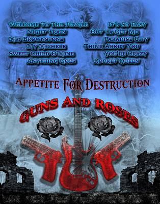 Digital Art - Appetite For Destruction by Michael Damiani