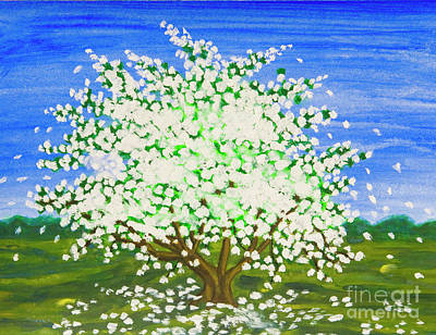 Painting - Apple Tree In Spring by Irina Afonskaya