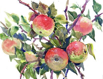 Apple Drawing - Apple Tree by Suren Nersisyan