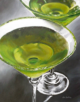 Apple Martini Painting - Appletini by Liz Zahara