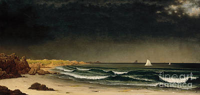 Approaching Storm Painting - Approaching Storm - Beach Near Newport by Celestial Images