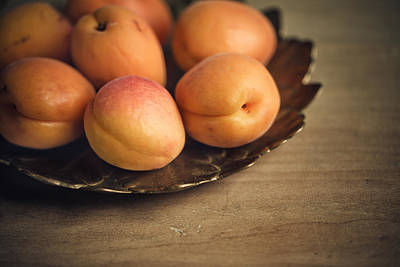 Orange Photograph - Apricots by Nailia Schwarz