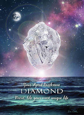 Digital Art - April Birthstone Diamond by Evie Cook