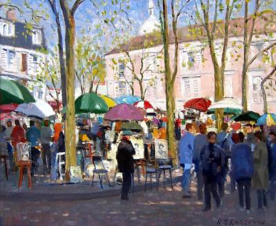 Painting - April In Paris by Roelof Rossouw