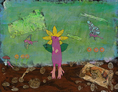Mixed Media - April Showers by Dawn Boswell Burke