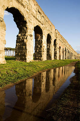 Roman Photograph - Aqua Claudia Aqueduct by Fabrizio Troiani
