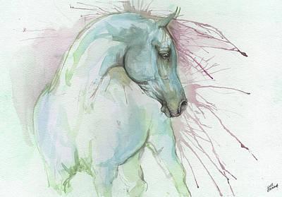 Painting - Aqua Horse by Angel Ciesniarska