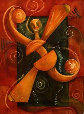 Aquatic Dancer Art Print by Dan Earle