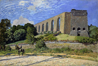 Painting - Aqueduct At Marly by Alfred Sisley