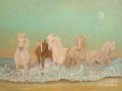 Painting - Arabian Surf Dancers by Patti Lennox