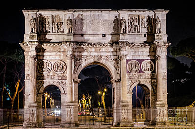 Design Pics - Arch of Constantine near the Colosseum #1 by Julian Starks