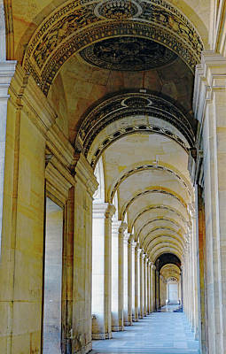 Photograph - Arched Walkway At The Louvre In Paris, France by Richard Rosenshein