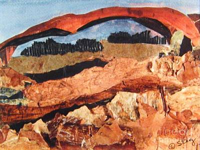 Southwest Landscape Mixed Media - Arches by Sharon Eng
