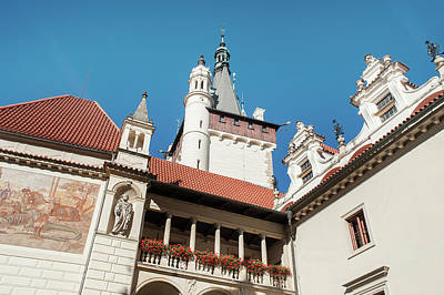 Photograph - Architecture Details Of Pruhonice Castle by Jenny Rainbow