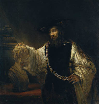 Aristotle With A Bust Of Homer Art Print by Rembrandt