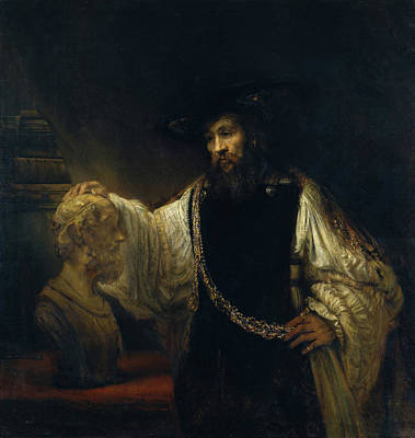 Men Painting - Aristotle With A Bust Of Homer by Rembrandt van Rijn