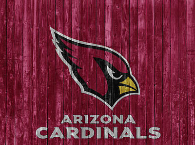 Mixed Media - Arizona Cardinals Barn Door by Dan Sproul