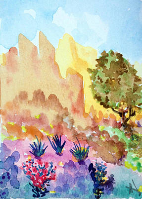 Painting - Arizona Trails by Patricia Lazaro