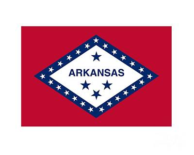 Arkansas Flag Original by Frederick Holiday