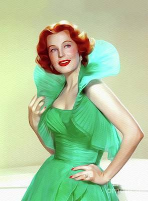 Painting - Arlene Dahl, Vintage Movie Star by John Springfield
