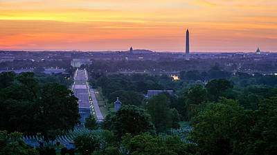 Photograph - Arlington Sunrise by Michael Donahue