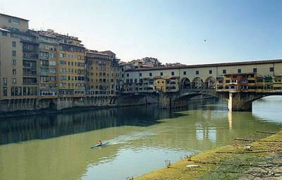 Art Print featuring the photograph Arno River In Florence Italy by Marna Edwards Flavell
