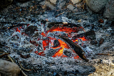 Stone Photograph - Around The Fire by Ric Schafer