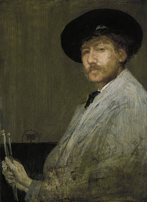 Whistler Painting - Arrangement In Gray - Portrait Of The Painter by James Abbott McNeill Whistler