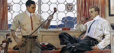 Arrow Shirt Collar Ad, 1914 Art Print by Granger