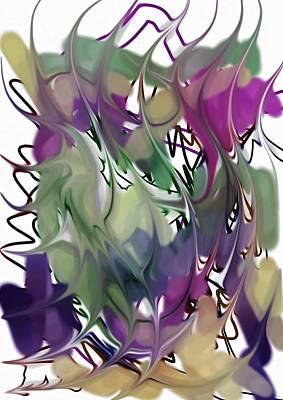 Art Print featuring the digital art Art Abstract by Sheila Mcdonald