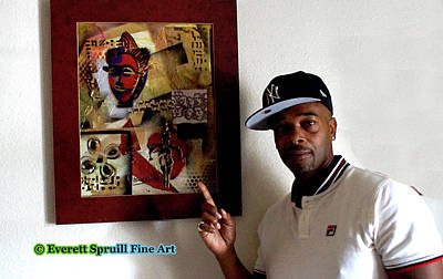 Mixed Media - Art Collector by Everett Spruill