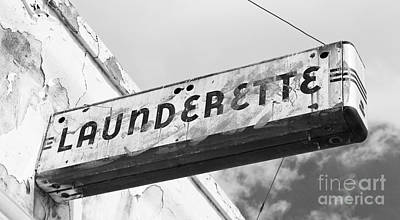 Art Deco Launderette Sign Art Print by ELITE IMAGE photography By Chad McDermott