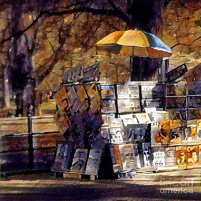 Photograph - Art In The Park - Central Park In Autumn by Miriam Danar