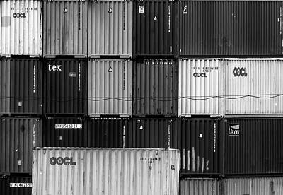 Photograph - Arthur Kill Containers by Steven Richman