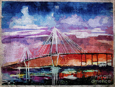 Painting - Arthur Ravenel Jr Bridge Charleston by Ginette Callaway