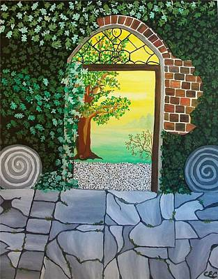 Art Print featuring the painting Arthurs Gate by Carolyn Cable