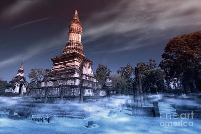 Digital Art - Artistic Of Chedi by Atiketta Sangasaeng