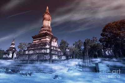 Architecture Digital Art - Artistic Of Chedi by Atiketta Sangasaeng